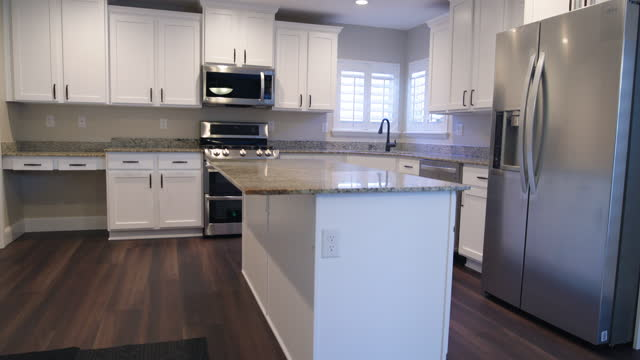 residential home kitchen - granite rock stock videos & royalty-free footage