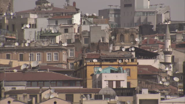 residential housing crowds neighborhoods in istanbul. available in hd - population explosion stock videos & royalty-free footage