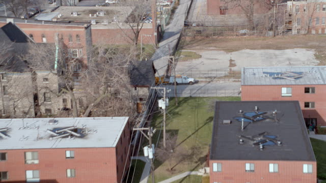 a residential neighborhood stretches along the outskirts of chicago, illinois. - illinois stock videos & royalty-free footage