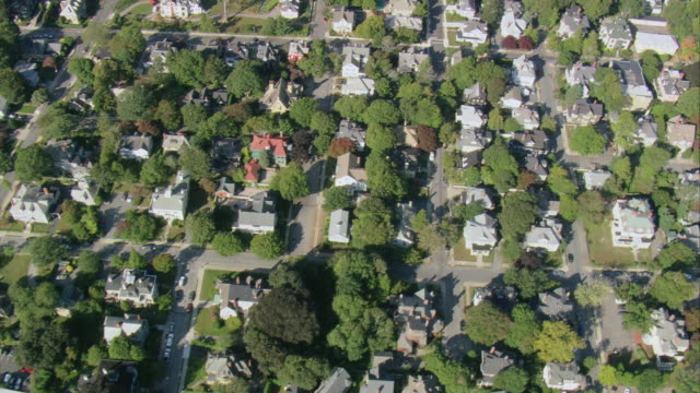 aerial residential neighborhoods / massachusetts, united states - massachusetts stock videos and b-roll footage