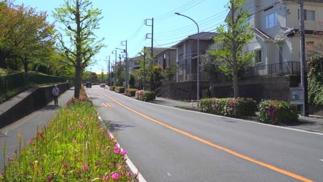 residential street in spring - plusphoto stock videos & royalty-free footage