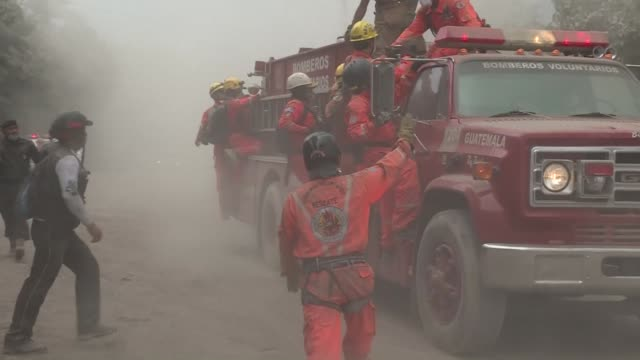 residents and emergency workers evacuate the area surrounding guatemala's fuego volcano as it registers an increase in activity a few days after an... - evacuation stock videos & royalty-free footage