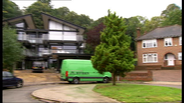 residents campaign against 'garden grabbing' developers good shots various of doublefronted period home next huge new huf haus - huf stock videos and b-roll footage