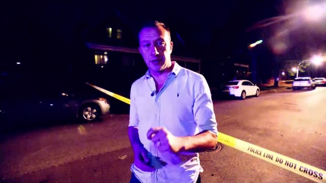 residents feel abandoned as gun crime soars in chicago; usa, chicago: local resident interviews, ambulance at crime scene of shooting, men arguing,... - gun stock videos & royalty-free footage