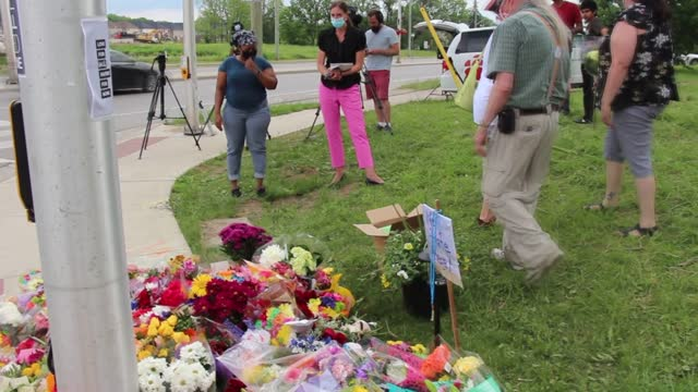 residents in ontario, canada, have visited the site of an attack on tuesday, june 8, which killed four members of a muslim family. they laid flowers... - carefree stock videos & royalty-free footage