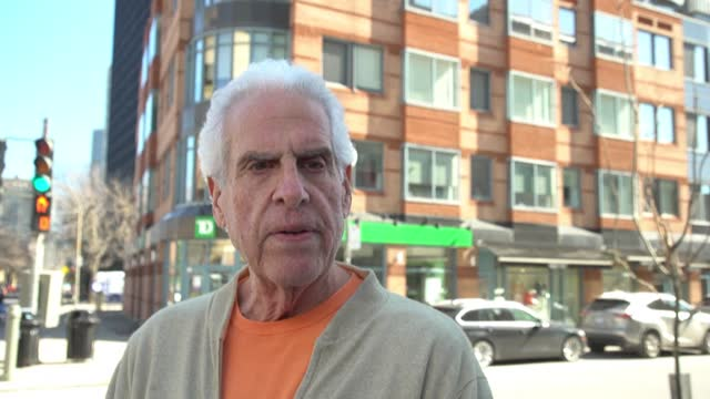 residents in the neighborhood of westmount in montreal react to the death of prince philip - montréal stock videos & royalty-free footage