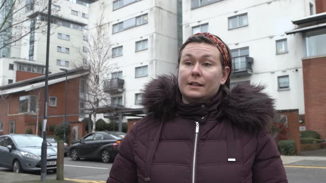 residents of a housing development in south east london, with flammable cladding, discuss how they are facing bankruptcy and putting family plans on... - flammable stock videos & royalty-free footage