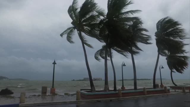 Residents of Fajardo Puerto Rico prepare for the worst of Hurricane Irma a monster Category Five storm that could devastate the US territory in the...