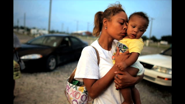 Residents of FEMA's Diamond Trailer Park in New Orleans express their concerns about the park's imminent closure