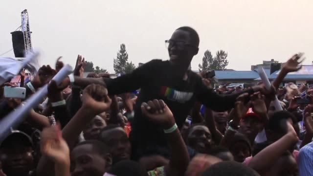 residents of goma celebrated the third edition of the amani festival saturday featuring senegalese musician ismael lo who said it is time for the... - democratic republic of the congo stock videos & royalty-free footage