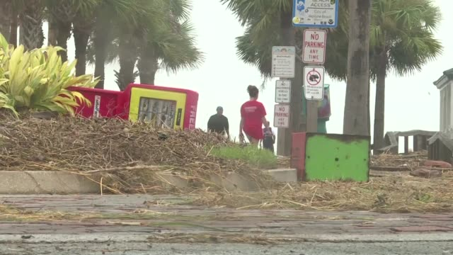 Residents of Jacksonville and Neptune Beach Florida awake to flooding and debris after fierce Hurricane Matthew ripped through cities along coast of...