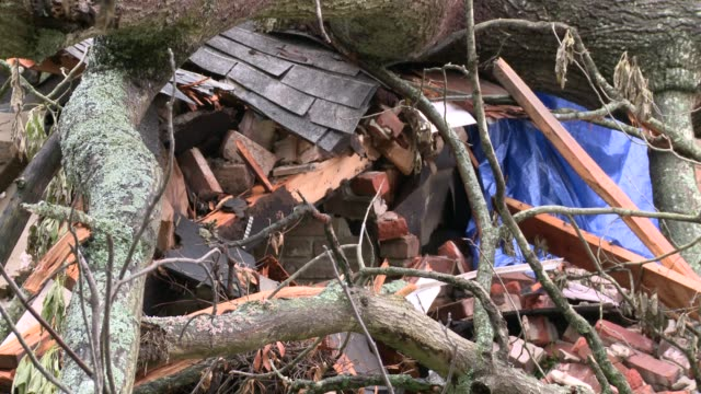 Residents of Little Rock Arkansas start to recover clean up following violent tornadoes and spring storms Tornado Damage on April 22 2011 in Little...