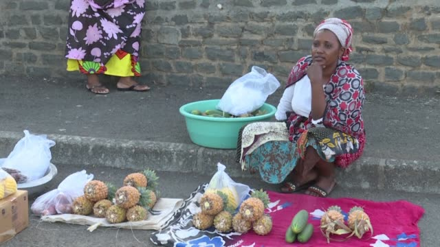residents of mamoudzou the capital of the french overseas region of mayotte expect strong gestures and measures from french president emmanuel macron... - french overseas territory stock videos & royalty-free footage