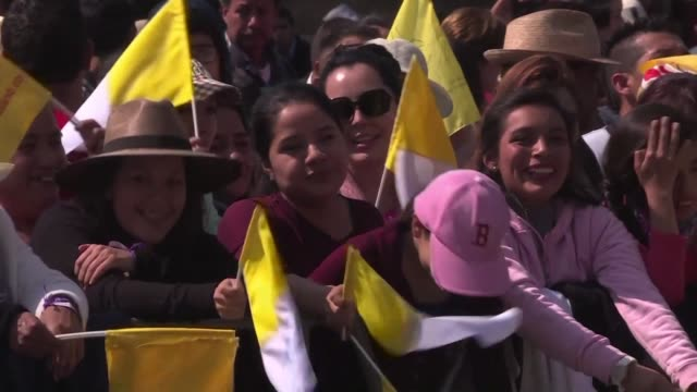 residents of mexicos violence torn michoacan state react to pope francis visit - morelia video stock e b–roll
