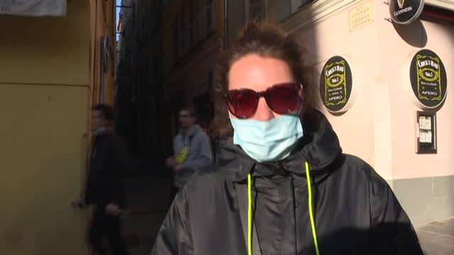 residents of nice on the french riviera weigh in as authorities consider enacting stricter restrictions to curb the spread of covid-19 in the city - enacting stock videos & royalty-free footage