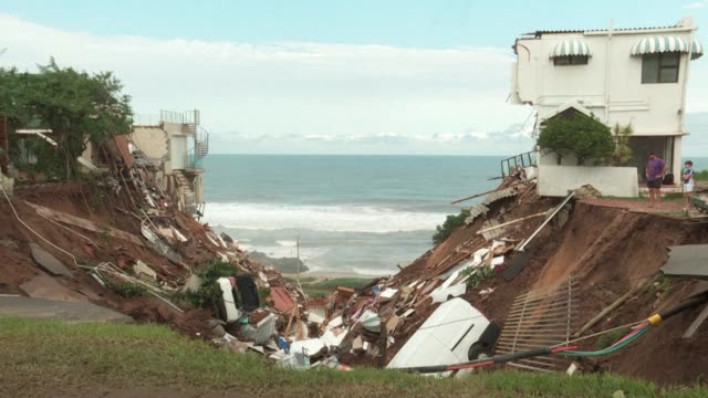 residents of south africa's kwazulu natal are reeling over their losses after extreme weather and devastating floods left 51 dead and forced more... - kwazulu natal stock videos & royalty-free footage