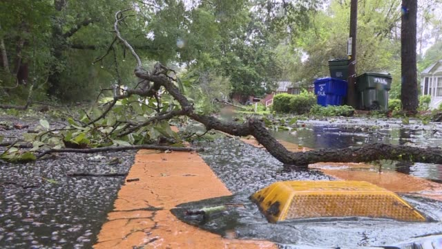 residents start returning home in south carolina a day after tropical storm florence makes its passage but flooding alerts remain on high level - south carolina stock videos & royalty-free footage