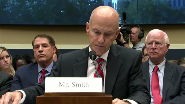 resigned equifax ceo richard smith tells a house energy and commerce subcommittee at a hearing into a massive data exfiltration at the company that... - data breach stock videos and b-roll footage