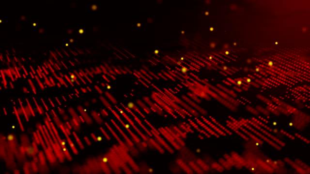vidéos et rushes de résolution 4k-fond abstrait de motif vague moderne (en boucle) - mèche colorée