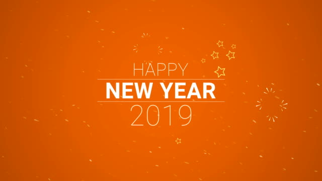 4k resolution, happy new year 2019 (loopable) - 2019 stock videos and b-roll footage