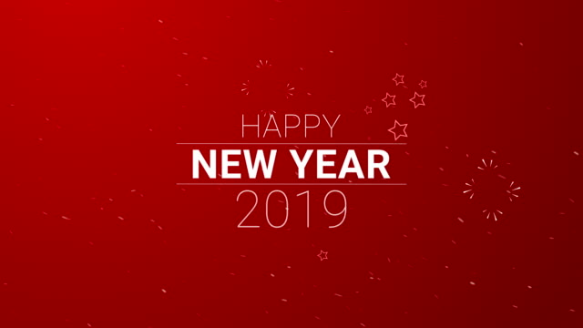 4k resolution, happy new year (loopable) - 2019 stock videos and b-roll footage