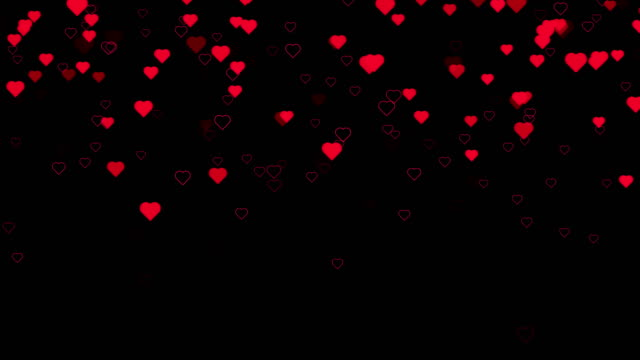 4k resolution - happy valentines day backgorund(loopable) - heart stock videos & royalty-free footage