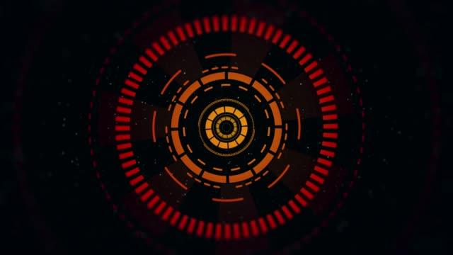 4k 解像度-hud 要素-テクノロジー - オレンジ点の映像素材/bロール