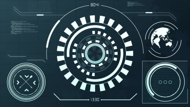 4k resolution - hud futuristic communication elements - continente area geografica video stock e b–roll