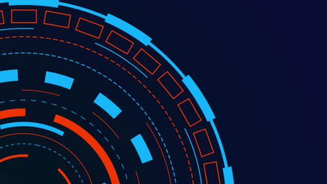 4k-upplösning-hud futuristiska kommunikations element - grafisk framställning bildbanksvideor och videomaterial från bakom kulisserna