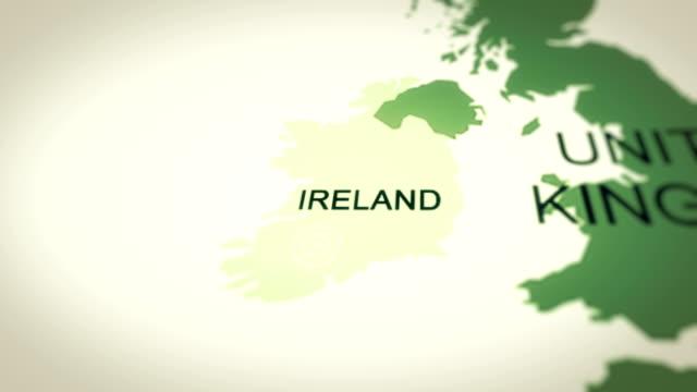 4k resolution, map ireland - politics illustration stock videos & royalty-free footage