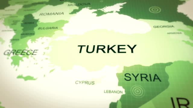 4k upplösning, karta turkiet - turkiet bildbanksvideor och videomaterial från bakom kulisserna