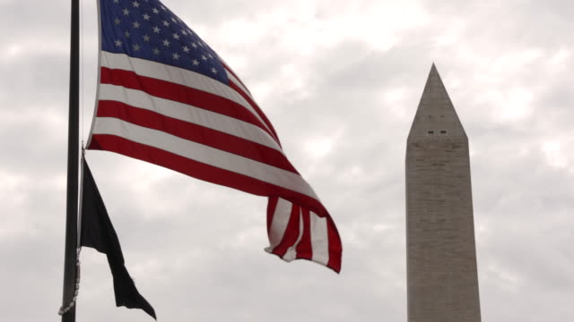 vidéos et rushes de 4k resolution of quiet landmarks in the us capital during coronavirus outbreak - washington monument washington dc