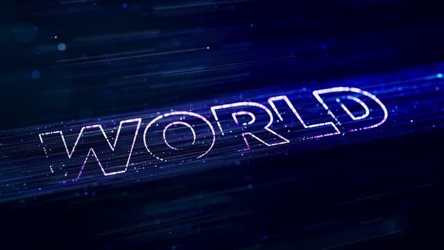 stockvideo's en b-roll-footage met achtergrond van 4k-resolutietechnologie en wereldtekst - arts culture and entertainment