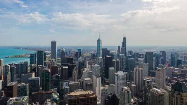 resolution Time Lapse of Chicago skyline