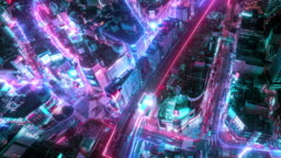 4K resolution Time lapse of Tokyo city aerial view with network connections line.Internet of Things And smart city concept,Technology-Futuristic concept