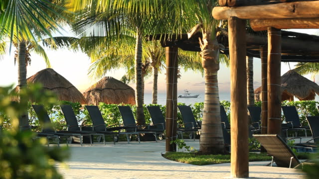 resort beach - mayan riviera stock videos & royalty-free footage