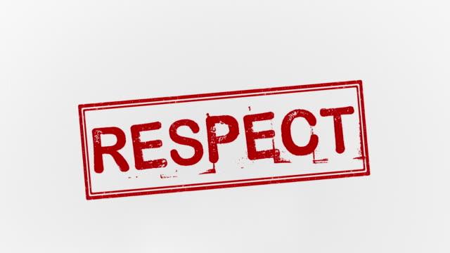 vidéos et rushes de respect de - respect