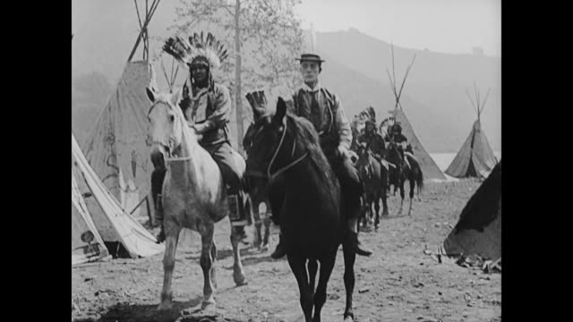 1922 Respected white man (Buster Keaton) joins American Indian army