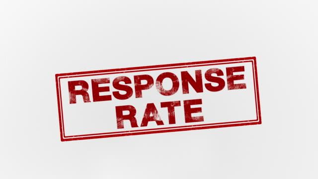 vidéos et rushes de taux de réponse - bol vide