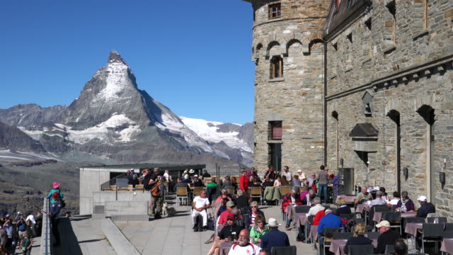 restaurant and observatory on the alps, in the matterhorn region. - astronomie stock videos & royalty-free footage