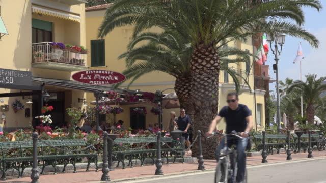 restaurant and street in porto azzurro - island of elba stock videos & royalty-free footage