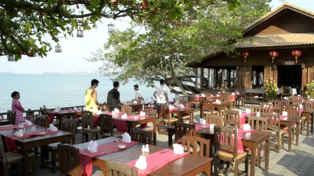 Restaurant at beach in Fisherman's Village