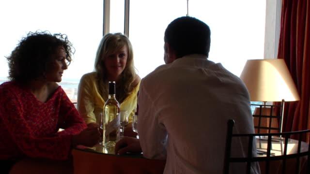 restaurant conversation - seduction stock videos & royalty-free footage