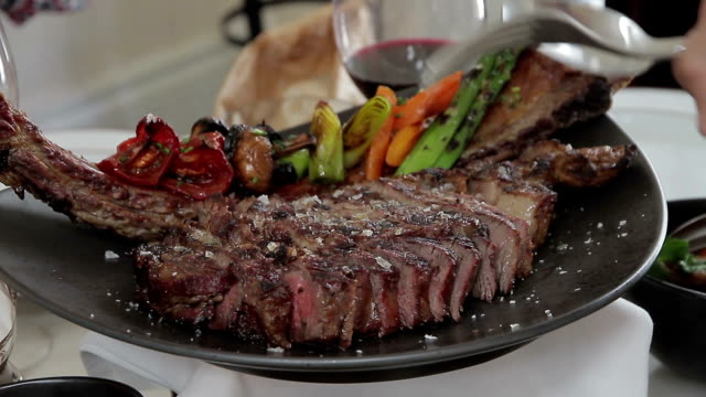 restaurant food beaf - shiso stock videos & royalty-free footage
