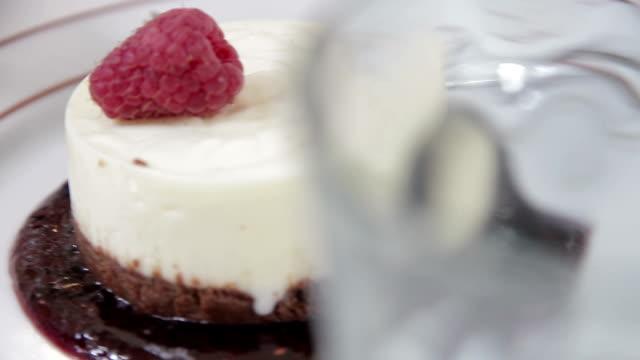 restaurant food dessert - shiso stock videos & royalty-free footage