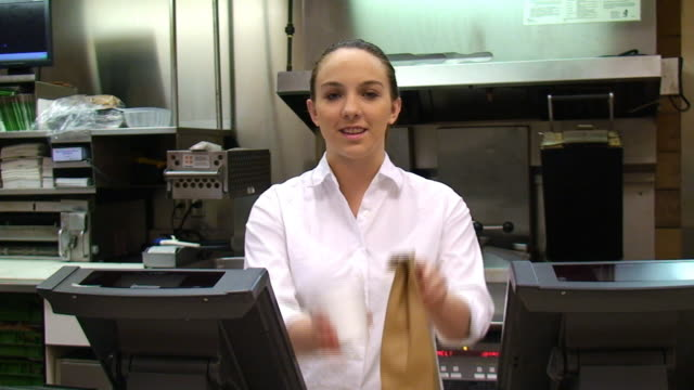 restaurant food worker - take away food stock videos and b-roll footage