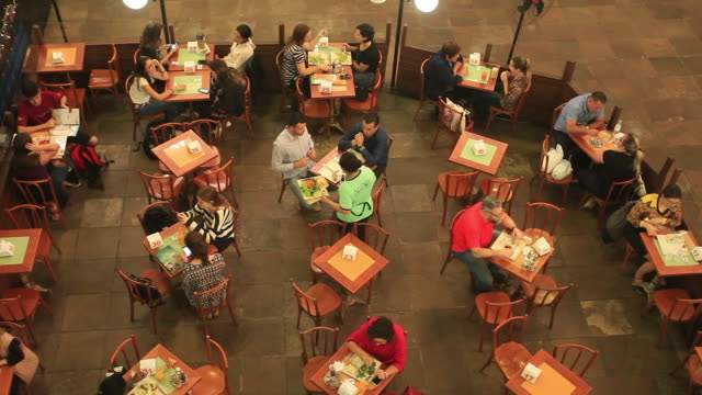 restaurant inside public market, porto alegre, rio grande do sul - alegre stock videos & royalty-free footage