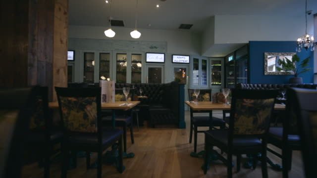 restaurant interior - newcastle upon tyne stock videos & royalty-free footage