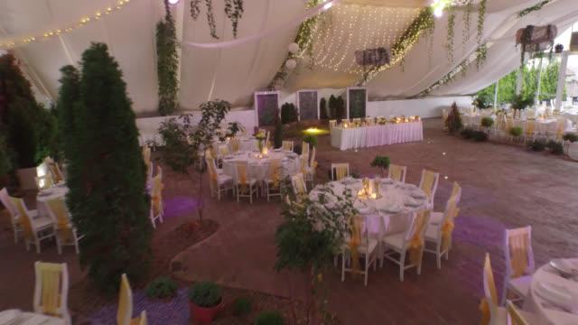 4k : restaurant interior - concert hall stock videos and b-roll footage