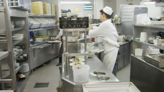 ws pan restaurant kitchen after the lunch time service - overworked stock videos & royalty-free footage